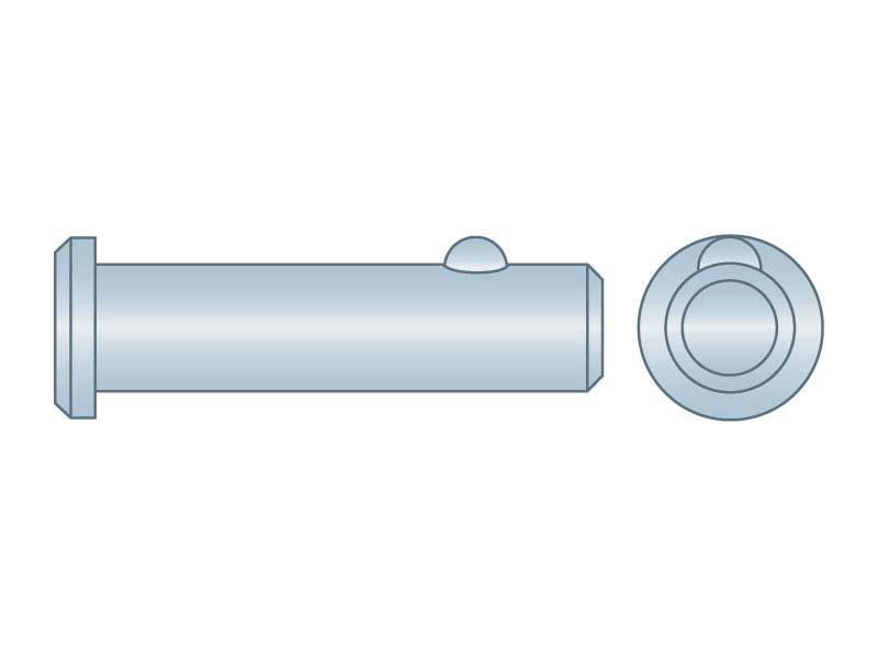 Clevis Pin 3//16 x 3//4 Zinc Low Carbon Steel 100 pcs