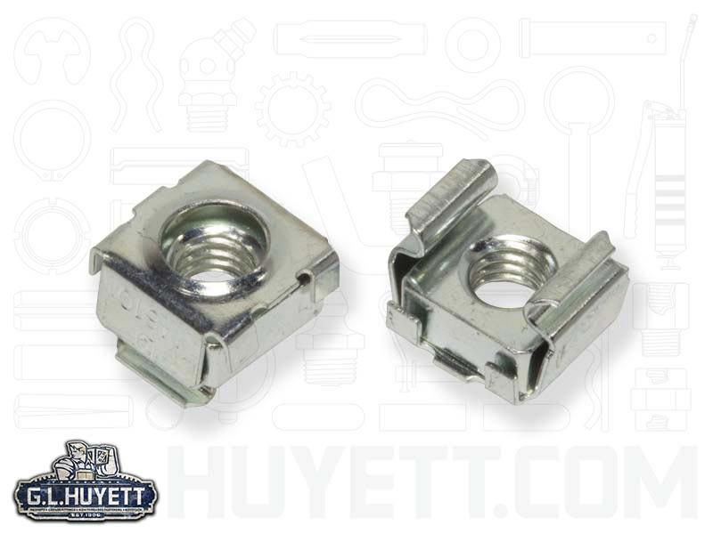 .093-.126 Carton: 1,000 pcs C7957-3816-3B Panel Range 3//8-16 Cage Nuts//Steel//Zinc