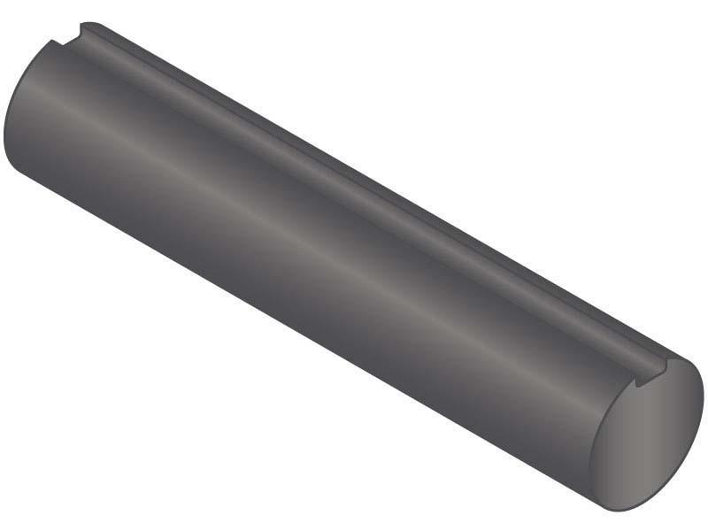 Keyshaft 1//2 Diameter 1//2 GKS-1045-60 1//8 x 1//16 Keyway 60 Length Carbon Steel Grade 1045 Keyed Shaft