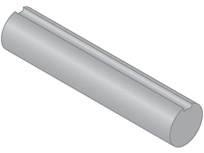 Keyed Shaft Diameter 1//2 316 Stainless Steel Length 3