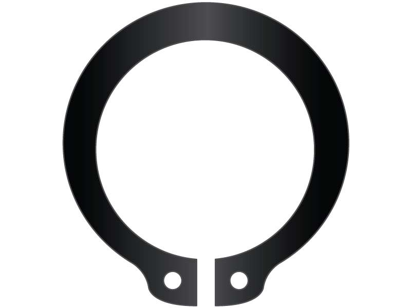 Stamped USA Standard Duty Spring Steel 2-1//2 Beveled External Snap Ring Pkg of 15 VSH-250