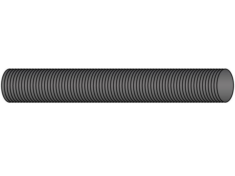 Threaded Rod,Low Carbon Steel,1-14X2 Ft