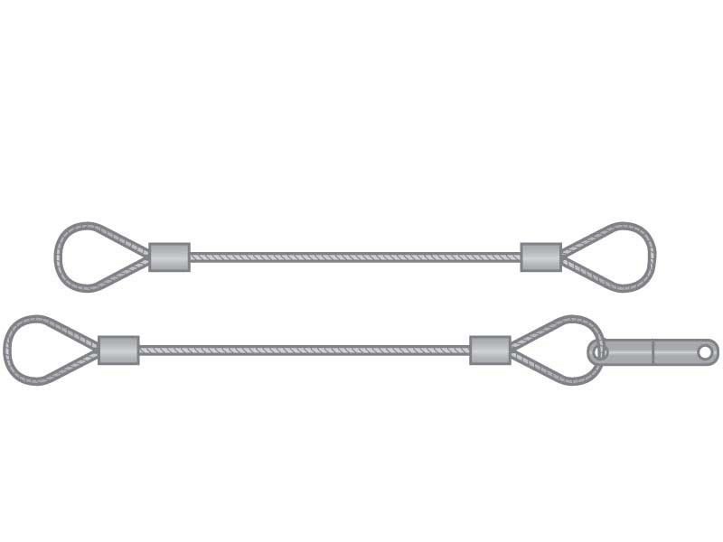Tether Lanyard 3/64 x 18 Stainless Steel Nylon Coated 2 Loop | G.L. ...