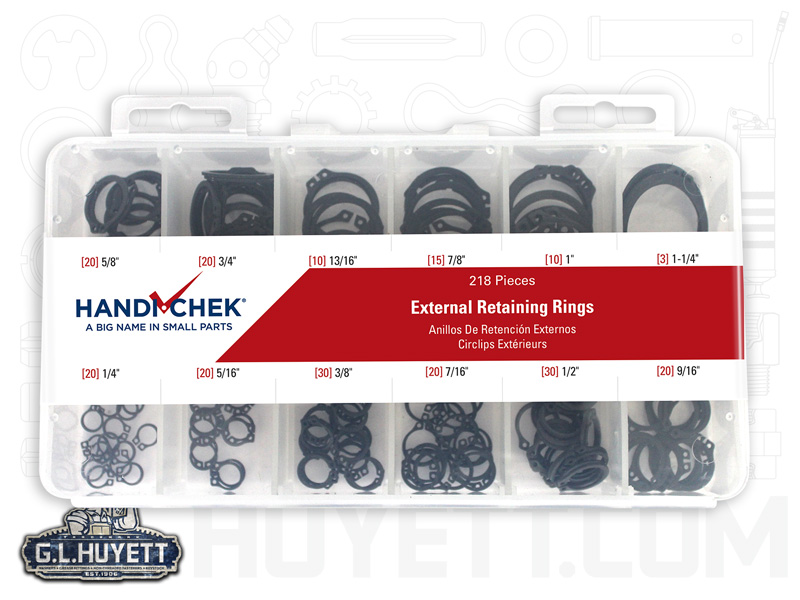 3//4 External Retaining Ring 20 pieces