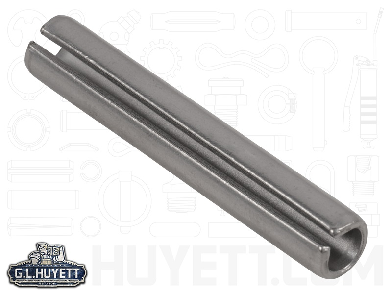 Slotted Spring Pin SD 1/4 x 1-1/2 Stainless Steel MS16562 | G.L. Huyett